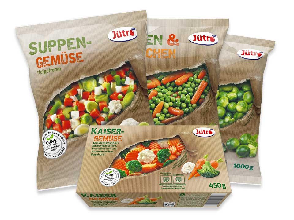 Gemüse Verpackungsvarianten Jütro Tiefkühlkost