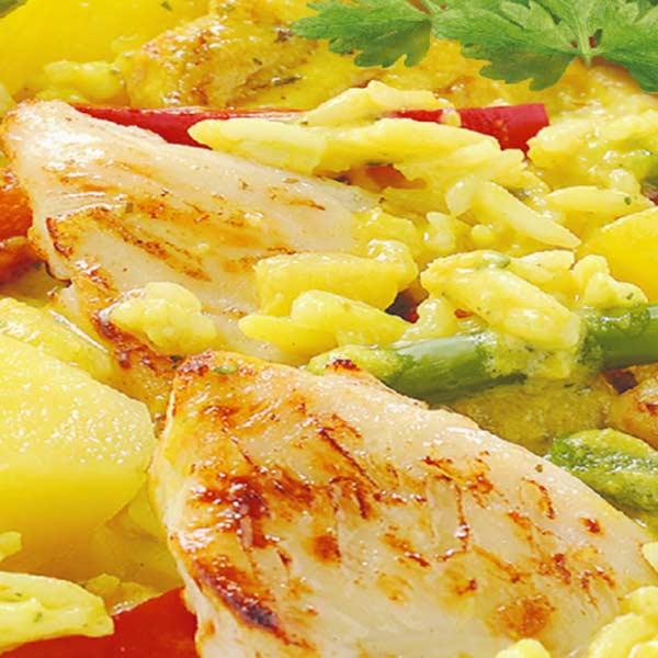Fertiggerichte Curry mit Basmatireis Jütro Tiefkühlkost