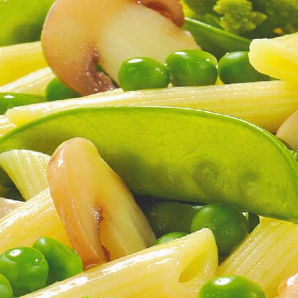 Fertiggerichte Gemüse auf Nudeln Jütro TIefkühlkost