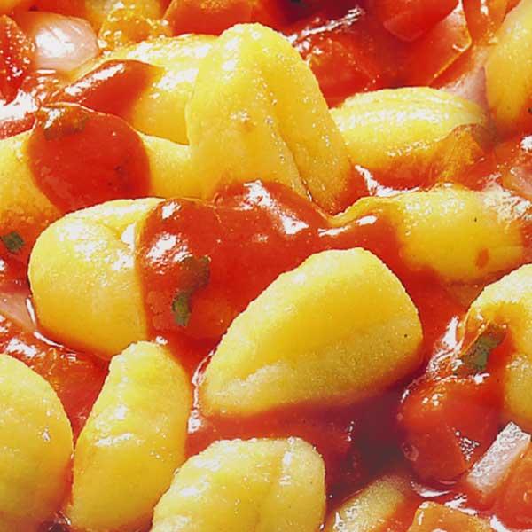Fertiggerichte Gnocchi Tomate Mozzarella Jütro Tiefkühlkost