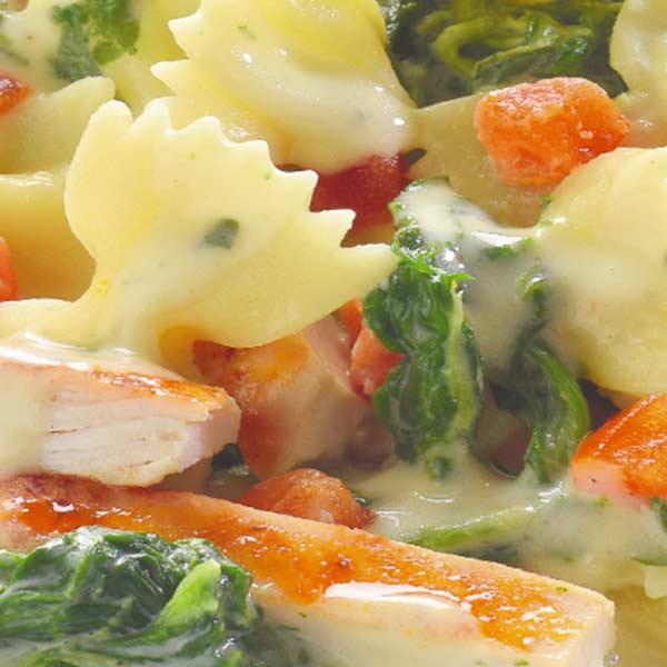 Fertiggerichte Putenbrust auf Pasta Jütro Tiefkühlkost